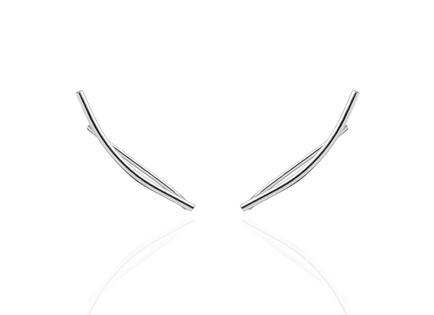 LINEAL CURVE silver earrings