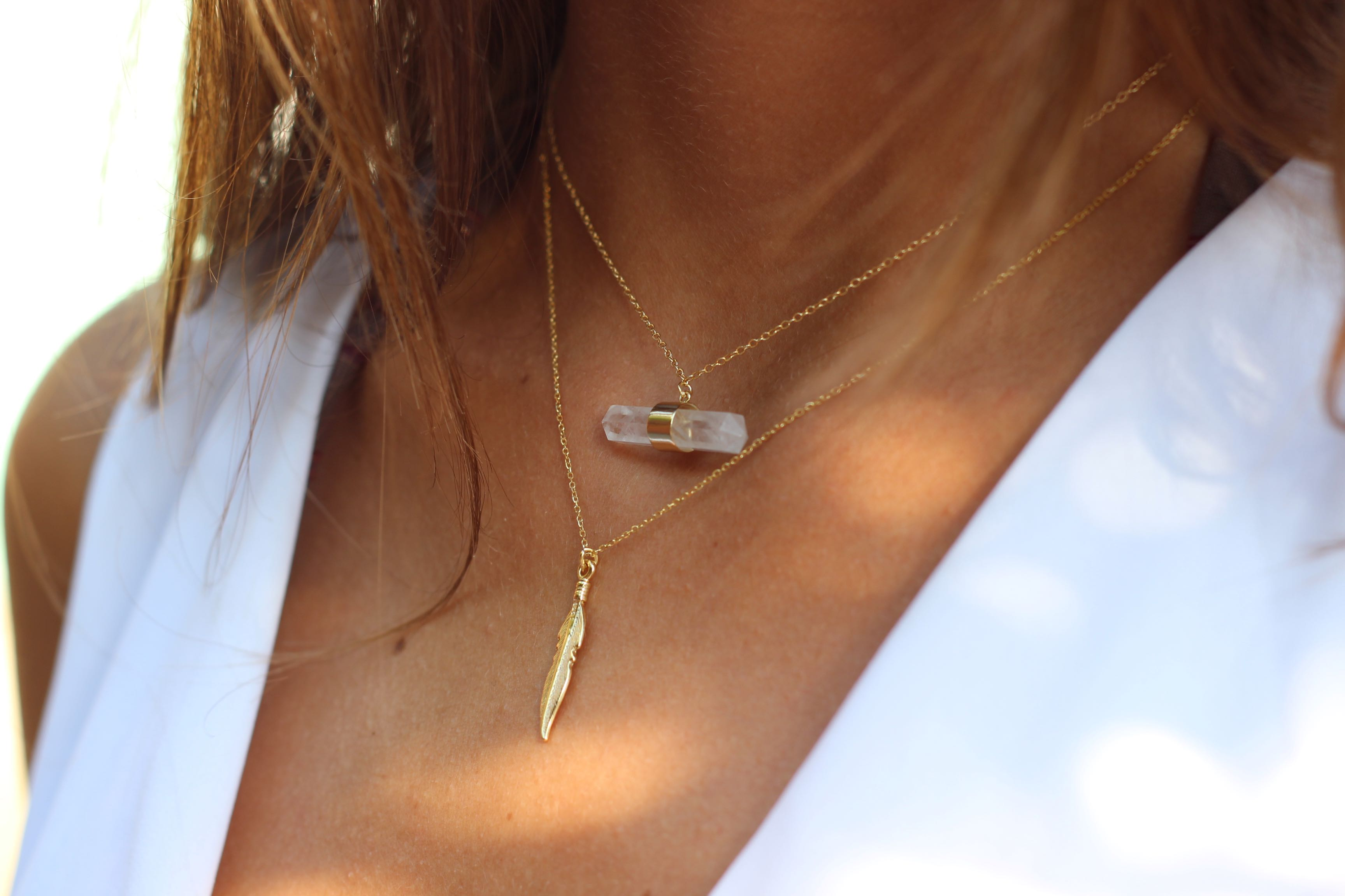 Collar FEATHER gold