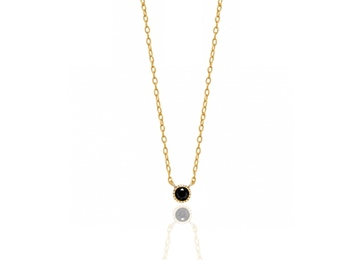 Collar basic or CZ negre