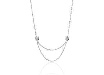 WAY silver necklace
