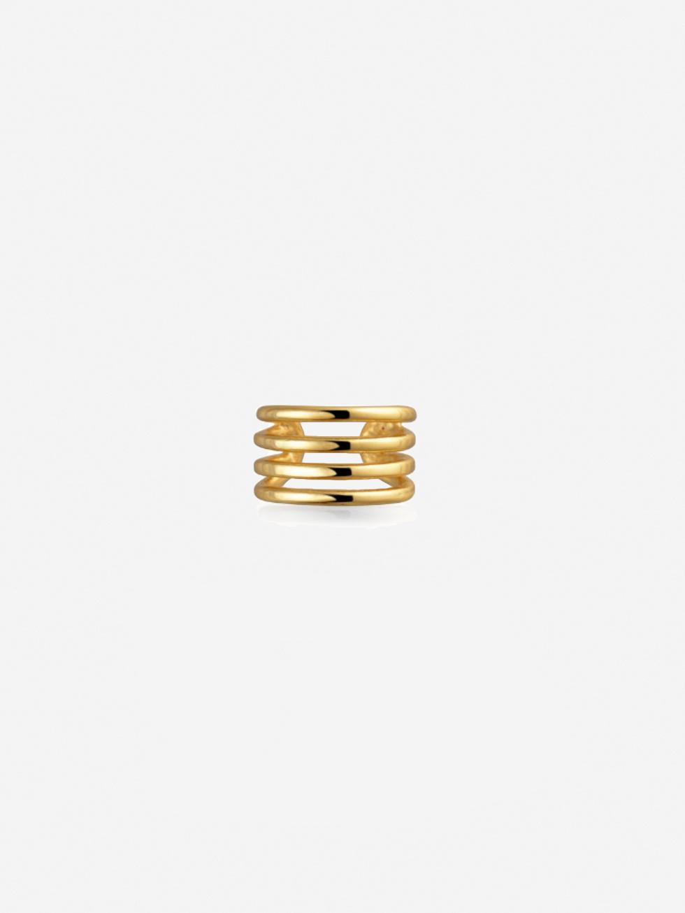 Pendientes clip gold 3