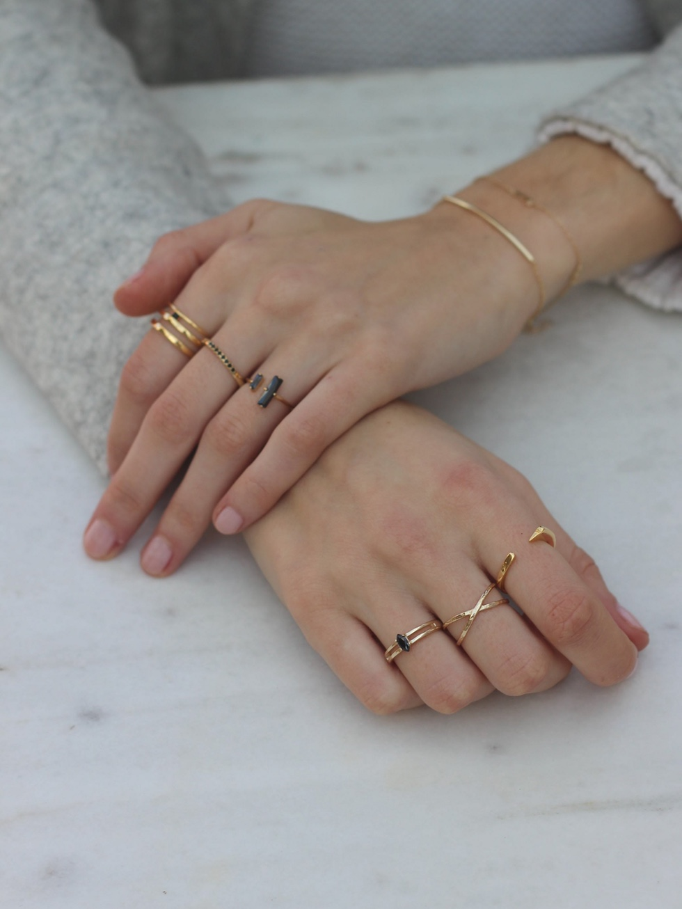 CLEO gold ring