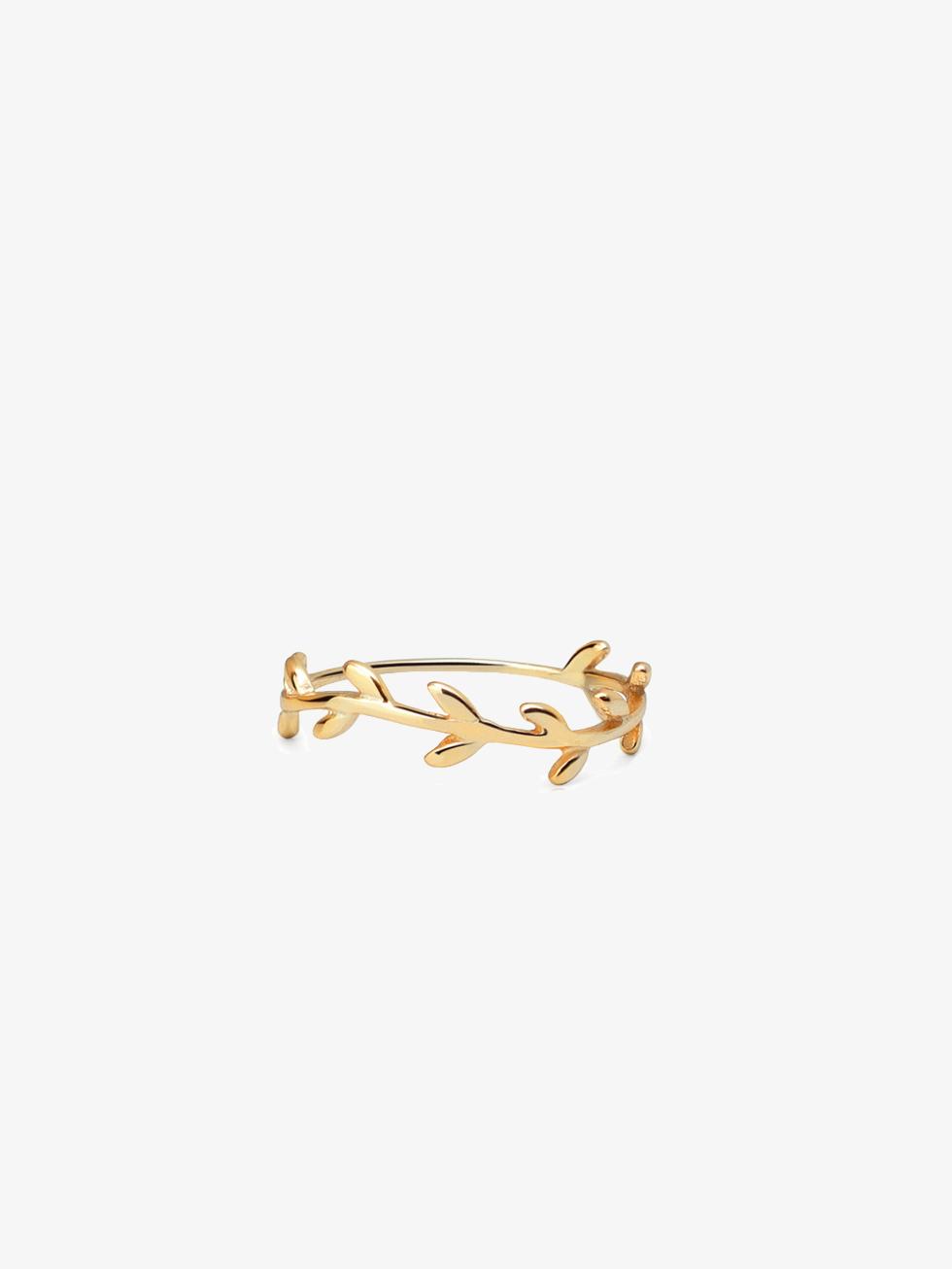 Anillo branch h gold