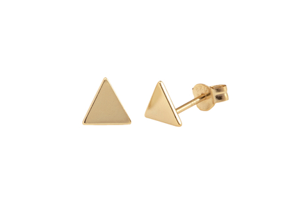 Boucles d'oreilles triangle or