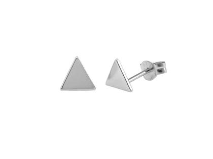 Pendientes triangulo plata