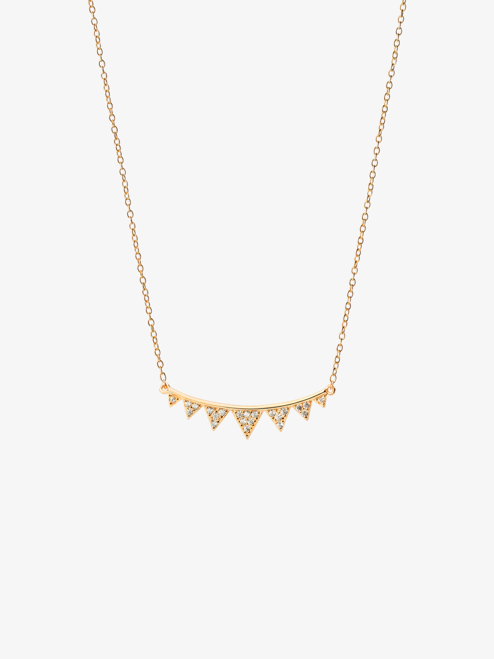 Collar triangles gold