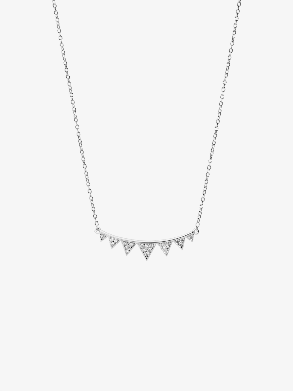 Collar triangles silver