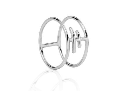 Silver TRIBET ring