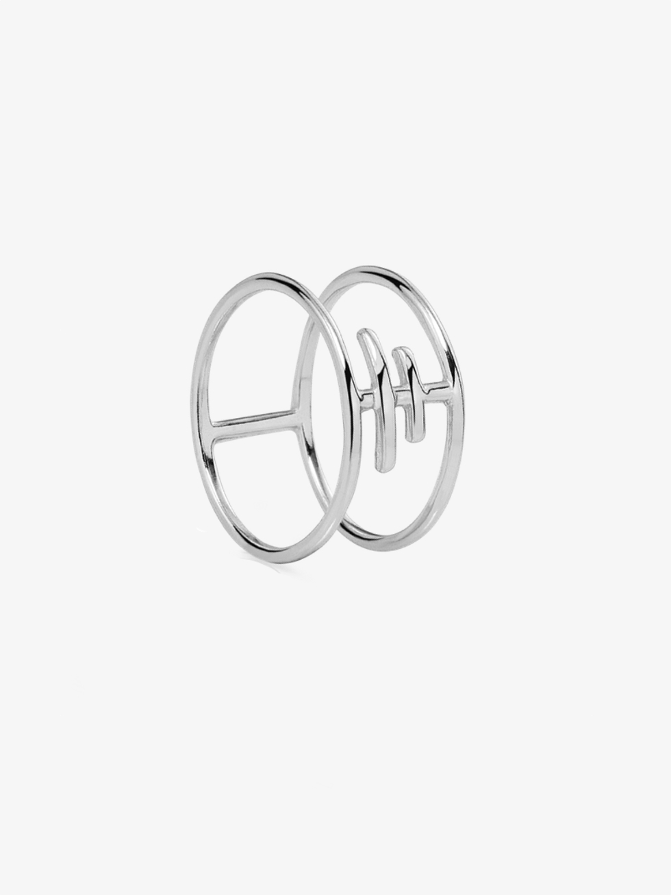 Silver TRIBET ring