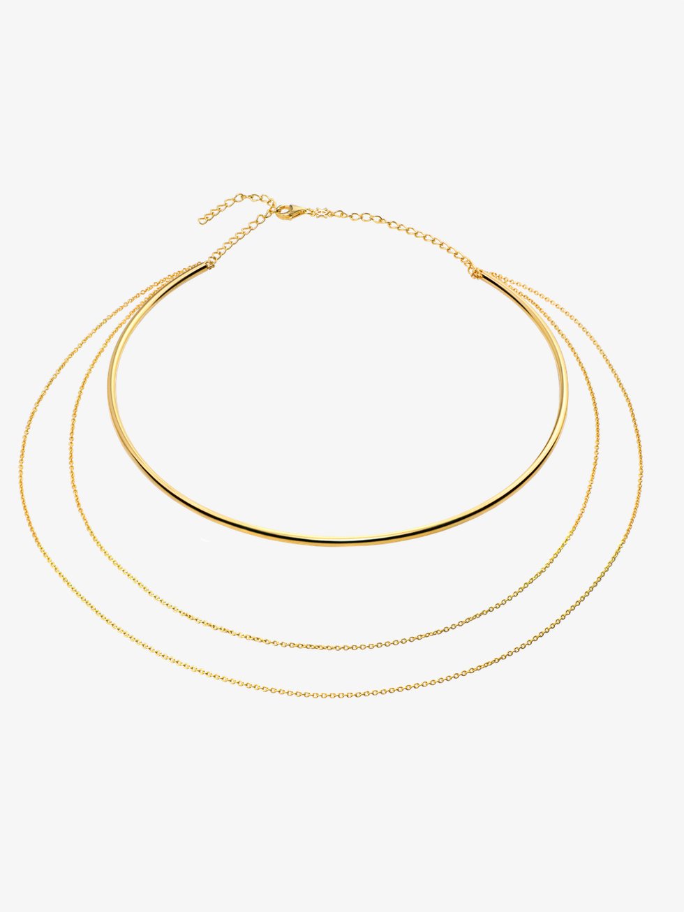 Collar triple oro 2