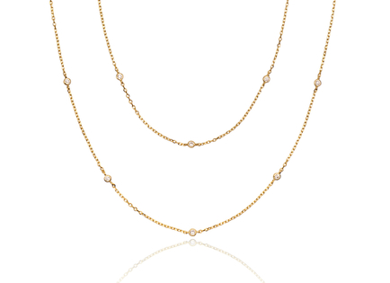 LONG CZ gold necklace