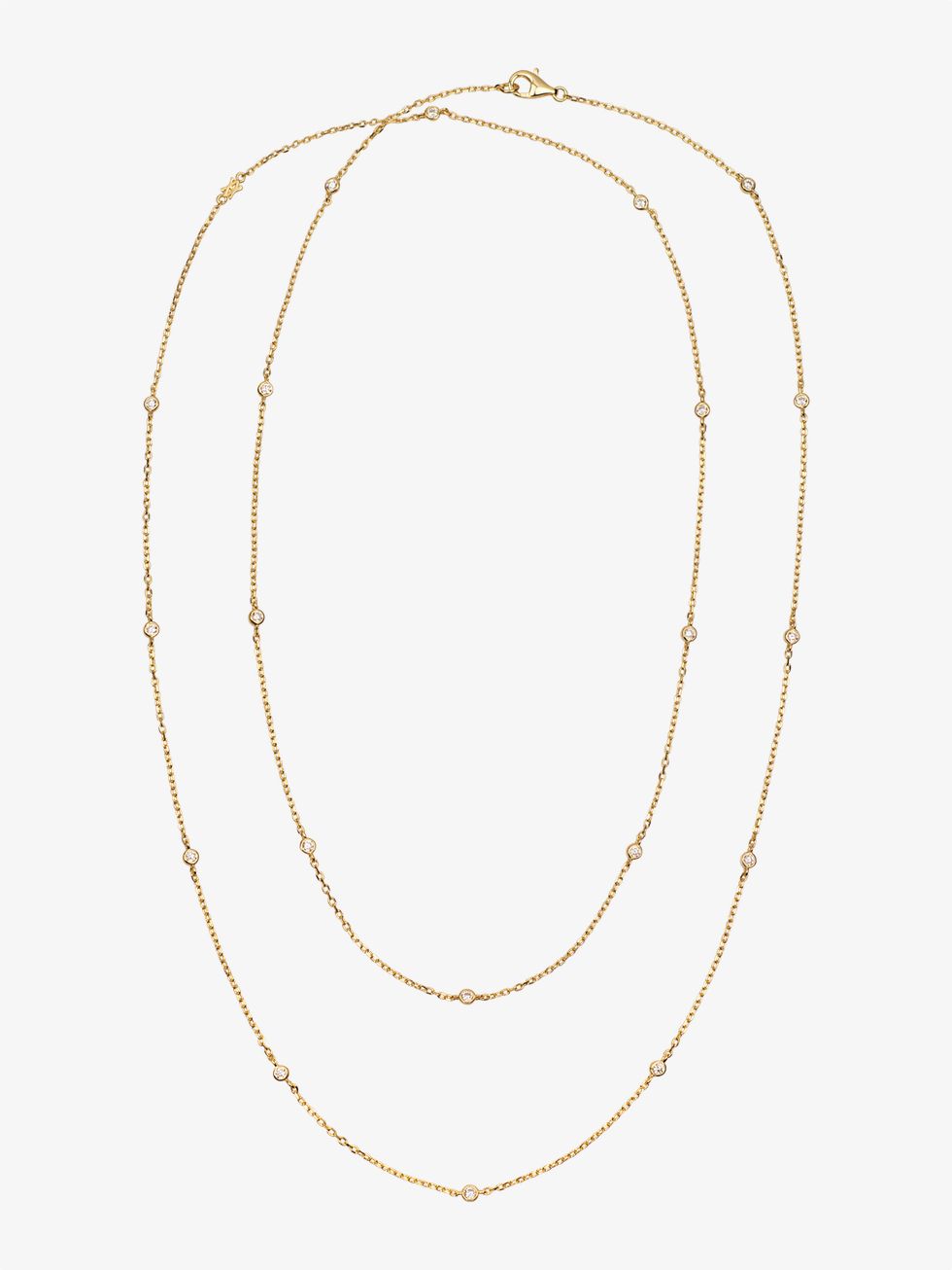 Collar long cz gold 3