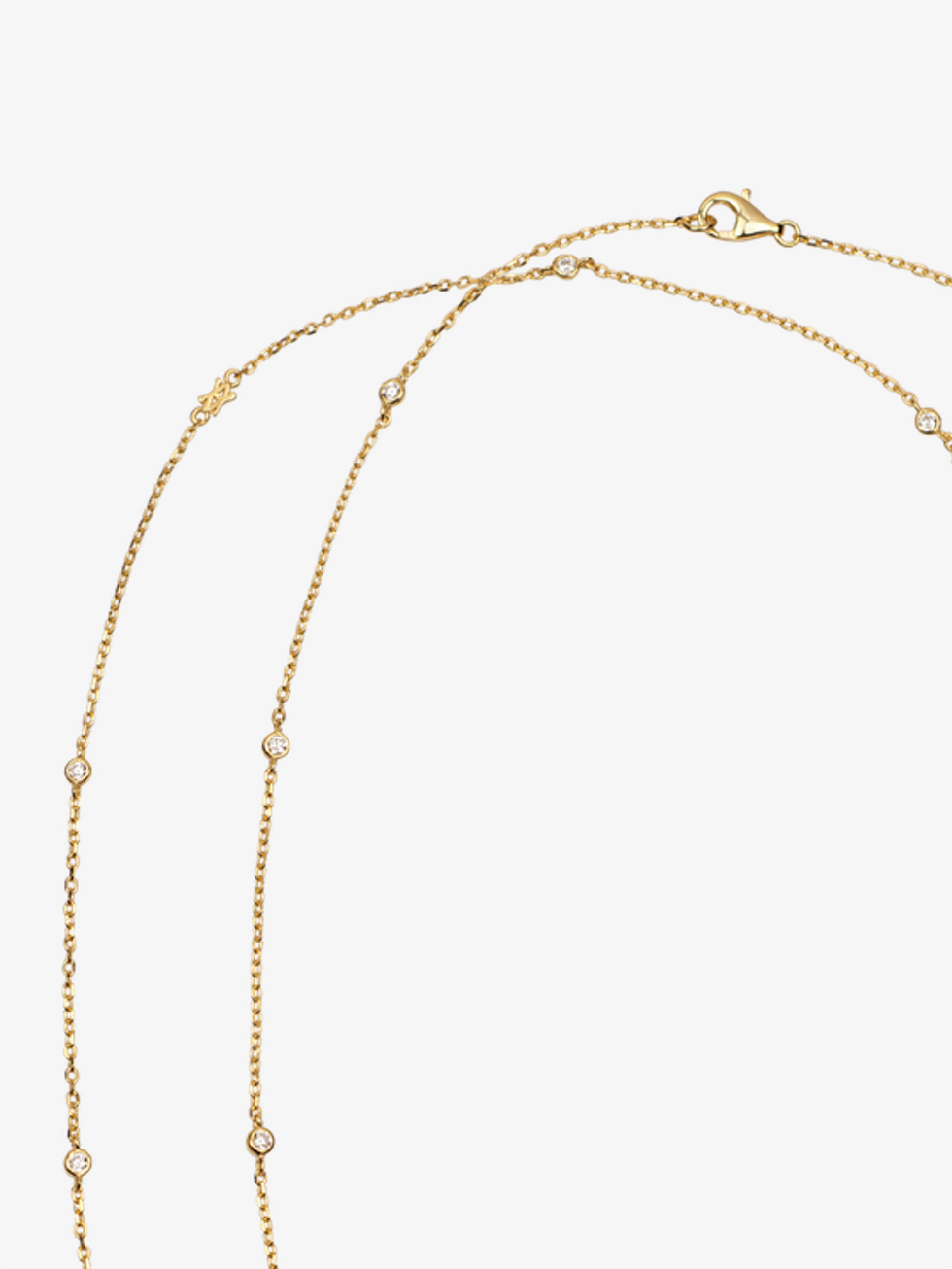 Collar long cz gold 4
