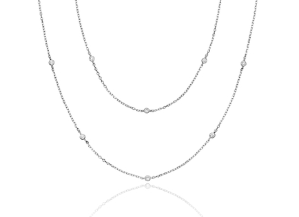 Collar LONG CZ plata