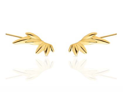 WILD gold earrings