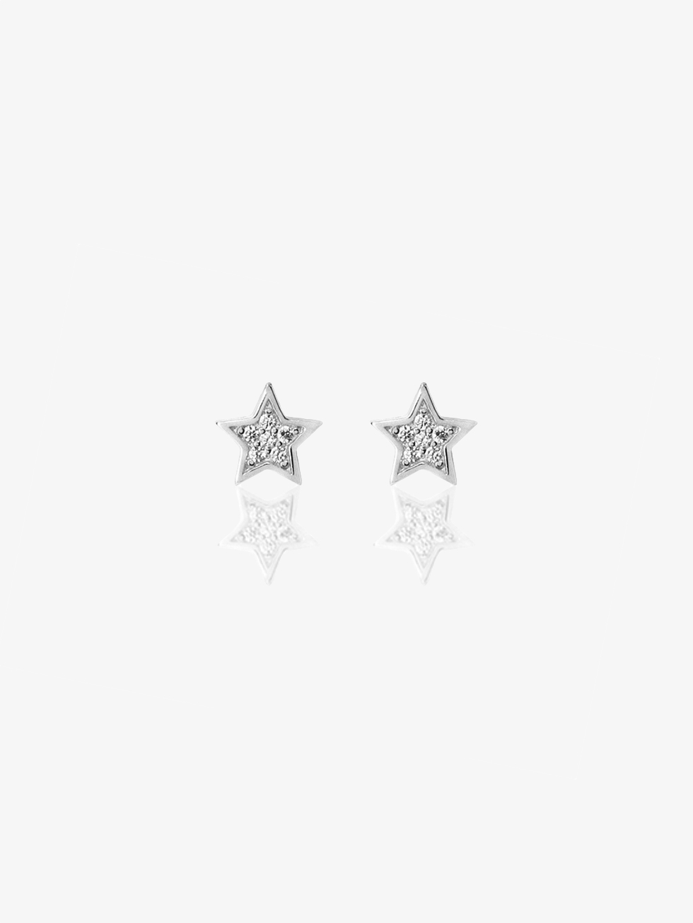 STAR CZ silver earrings