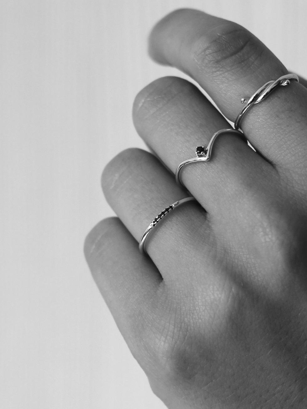 Anillo blacklace silver mod