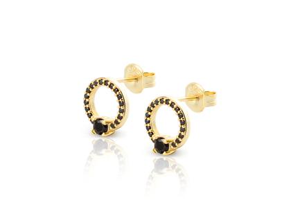 MARIA CZ gold earrings
