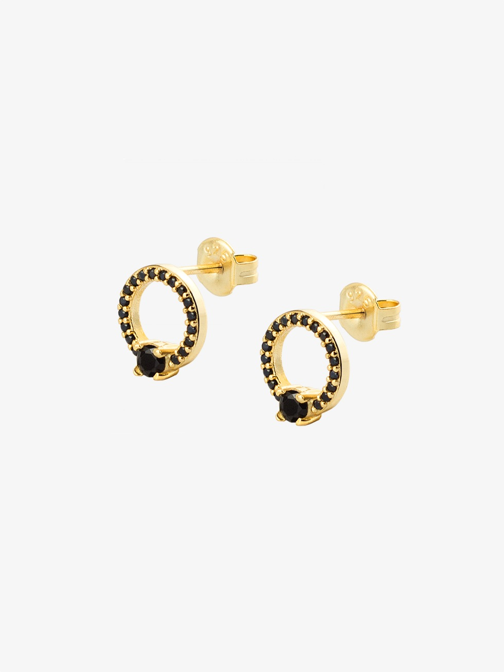 MARIA CZ gold earrings