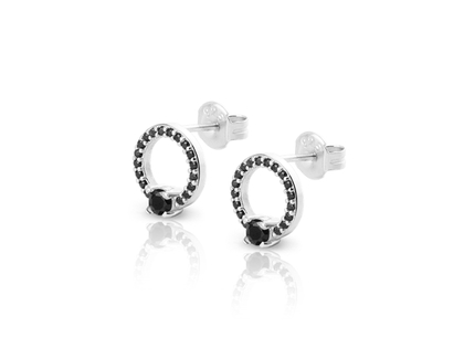 MARIA CZ silver earrings