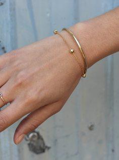 THREE BALLS gold bracelet