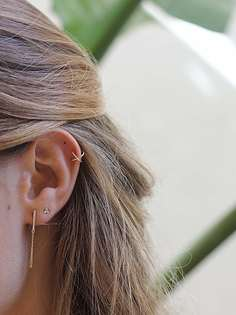 Gold X EAR CUFF earring