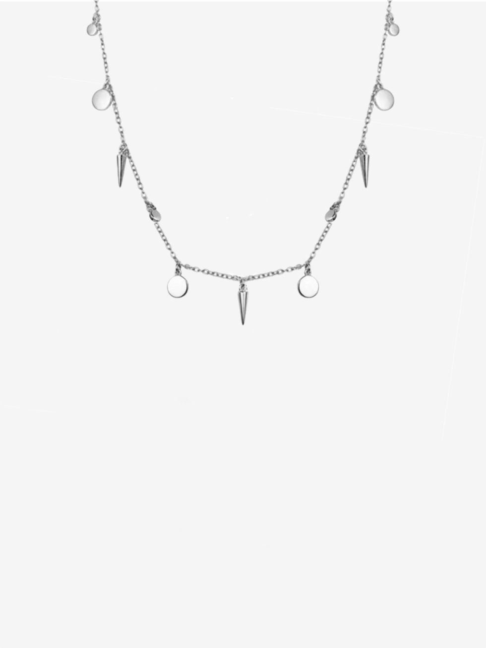 Collar chocker medallitasyconos plata 2