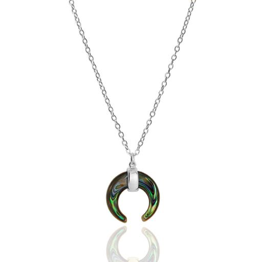 ABALON silver necklace