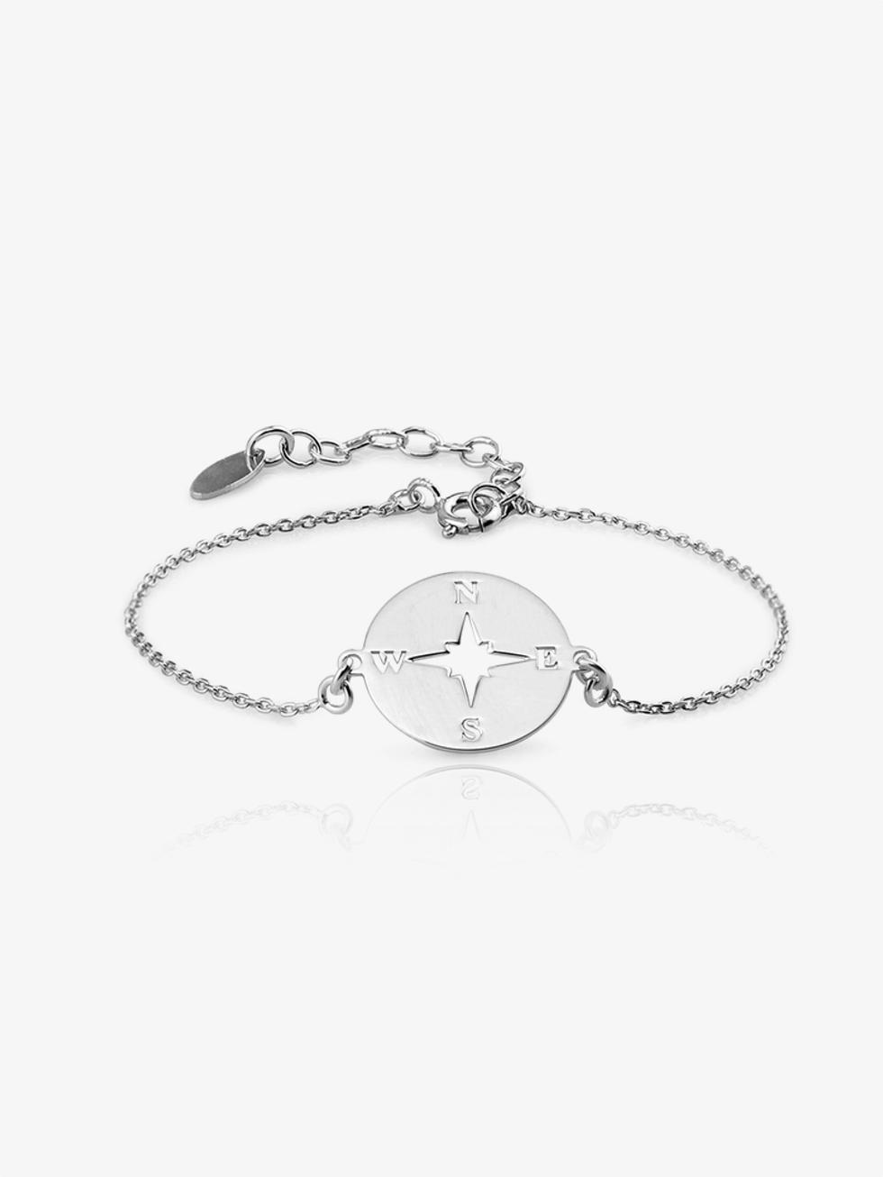 Rosadelviento bracelet silver2