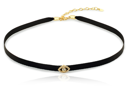 Choker necklace gold EYE