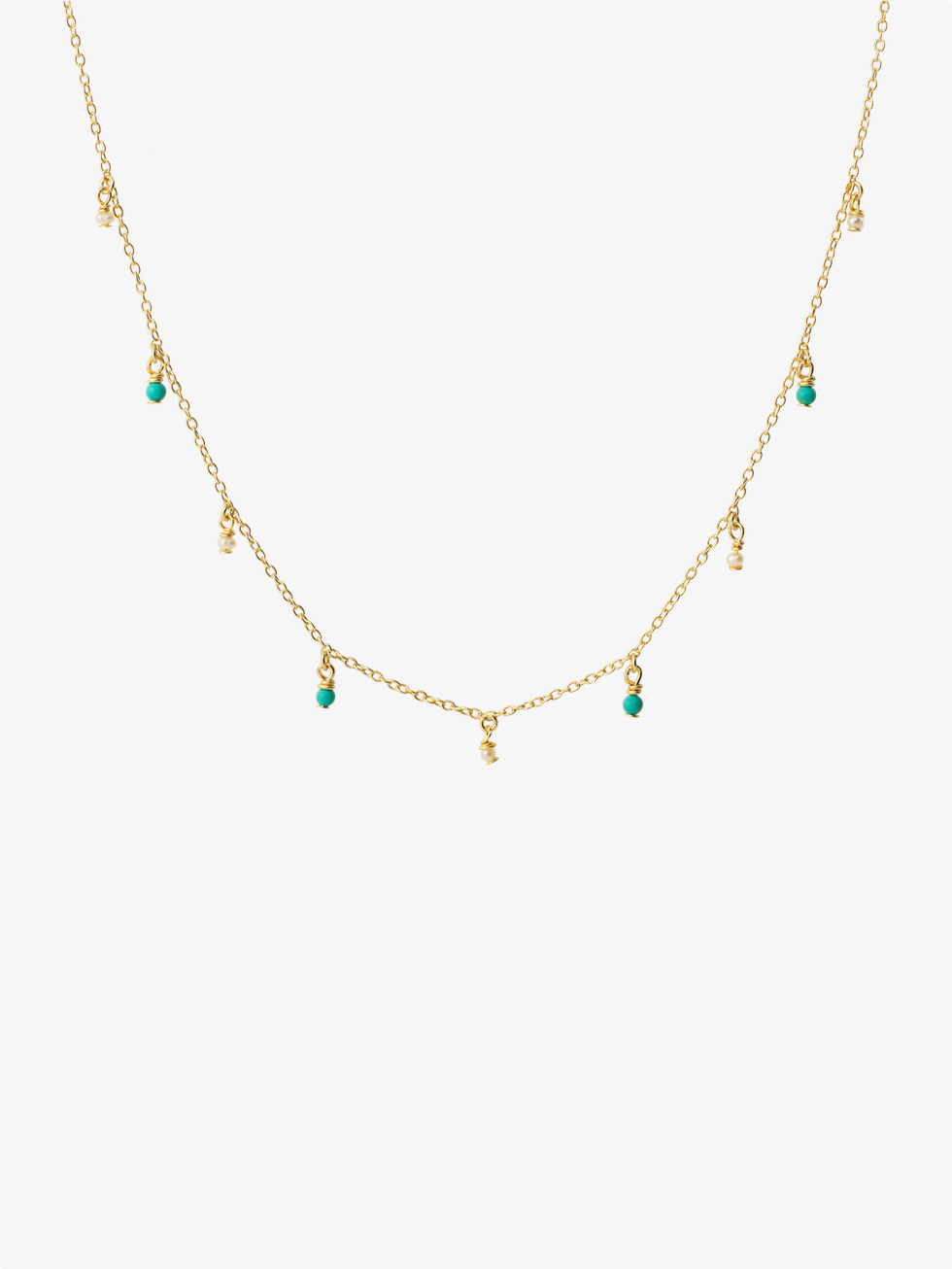 TURQUESAS gold necklace