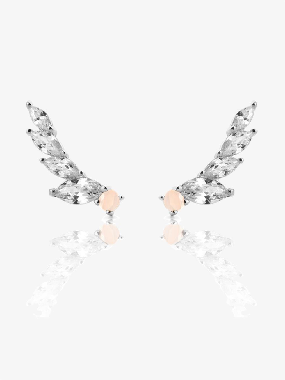 Pendientes wings rosa plata2
