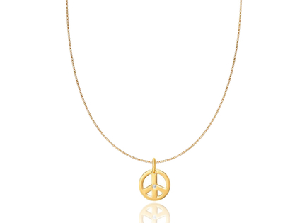 Collier PEACE or cz