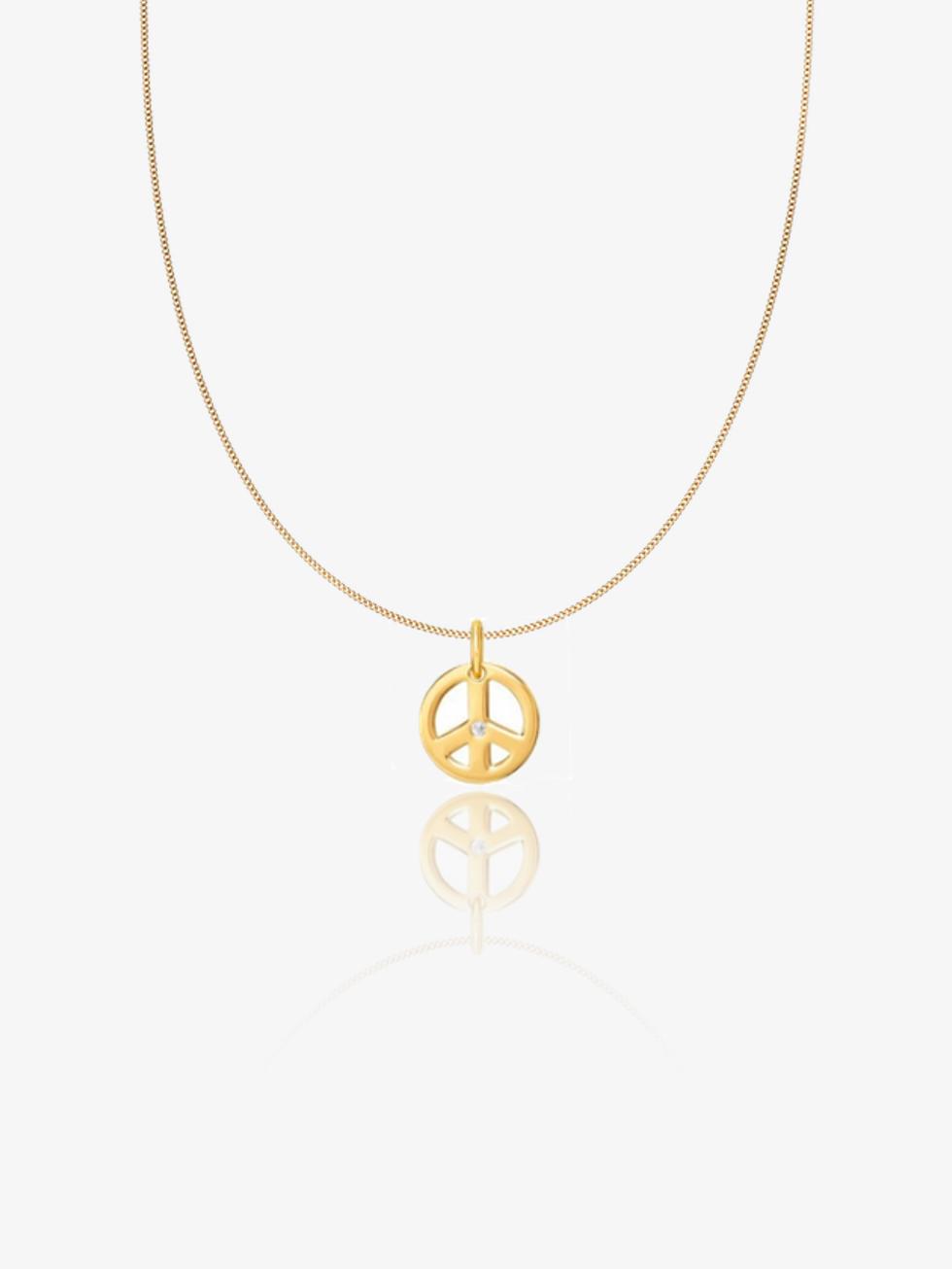 Collar peace cz  oro 2