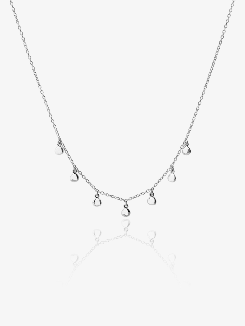 SILVER PEPITAS NECKLACE