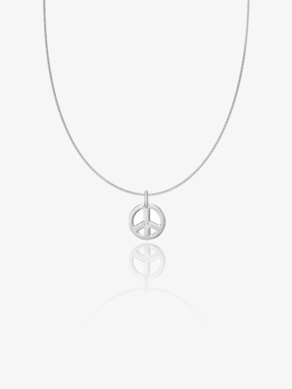 Collar peace cz  plata2