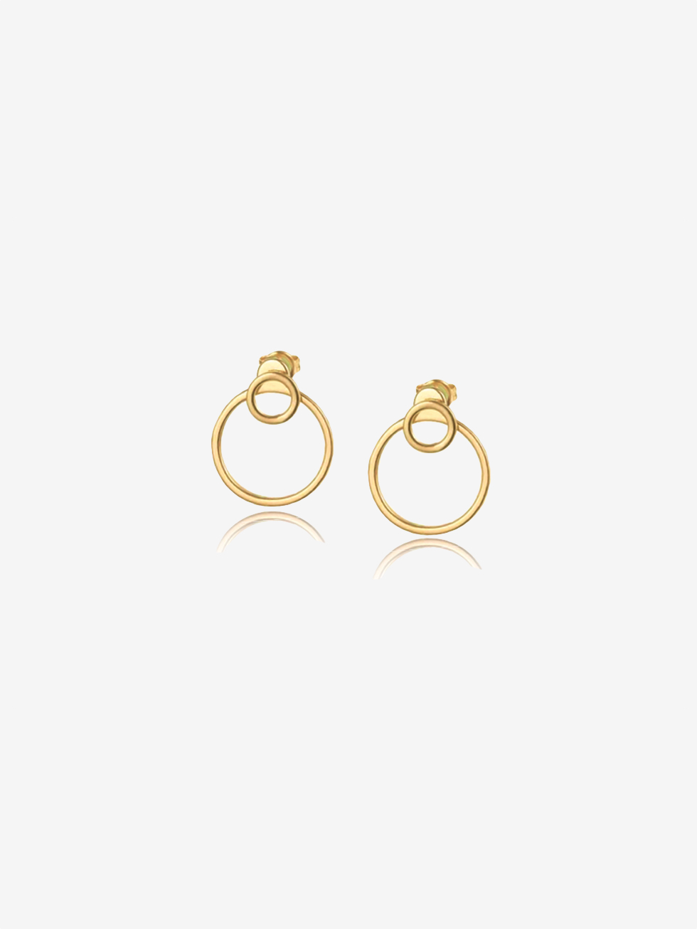 DOBLE CIRCULO gold earrings