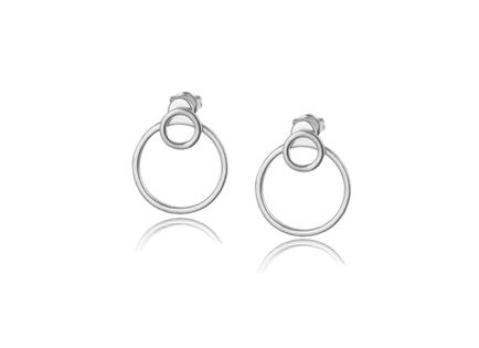 DOBLE CIRCULO silver earrings