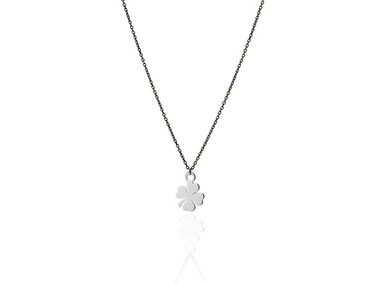 Silver TREBOL necklace