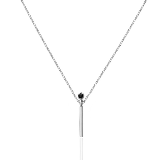 Collier BARRA black cz argent