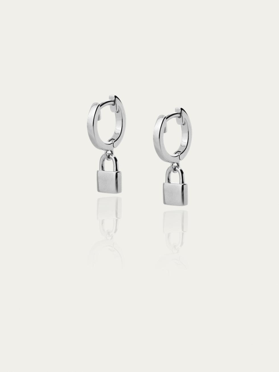 Pendiente lock silver2