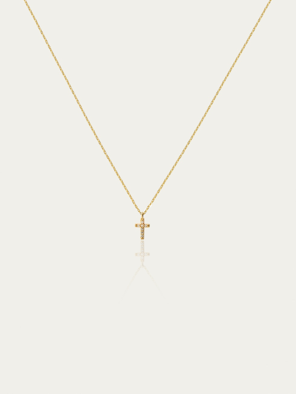 Gold TB CROSS necklace