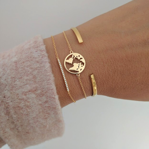 Pulsera WORLD oro