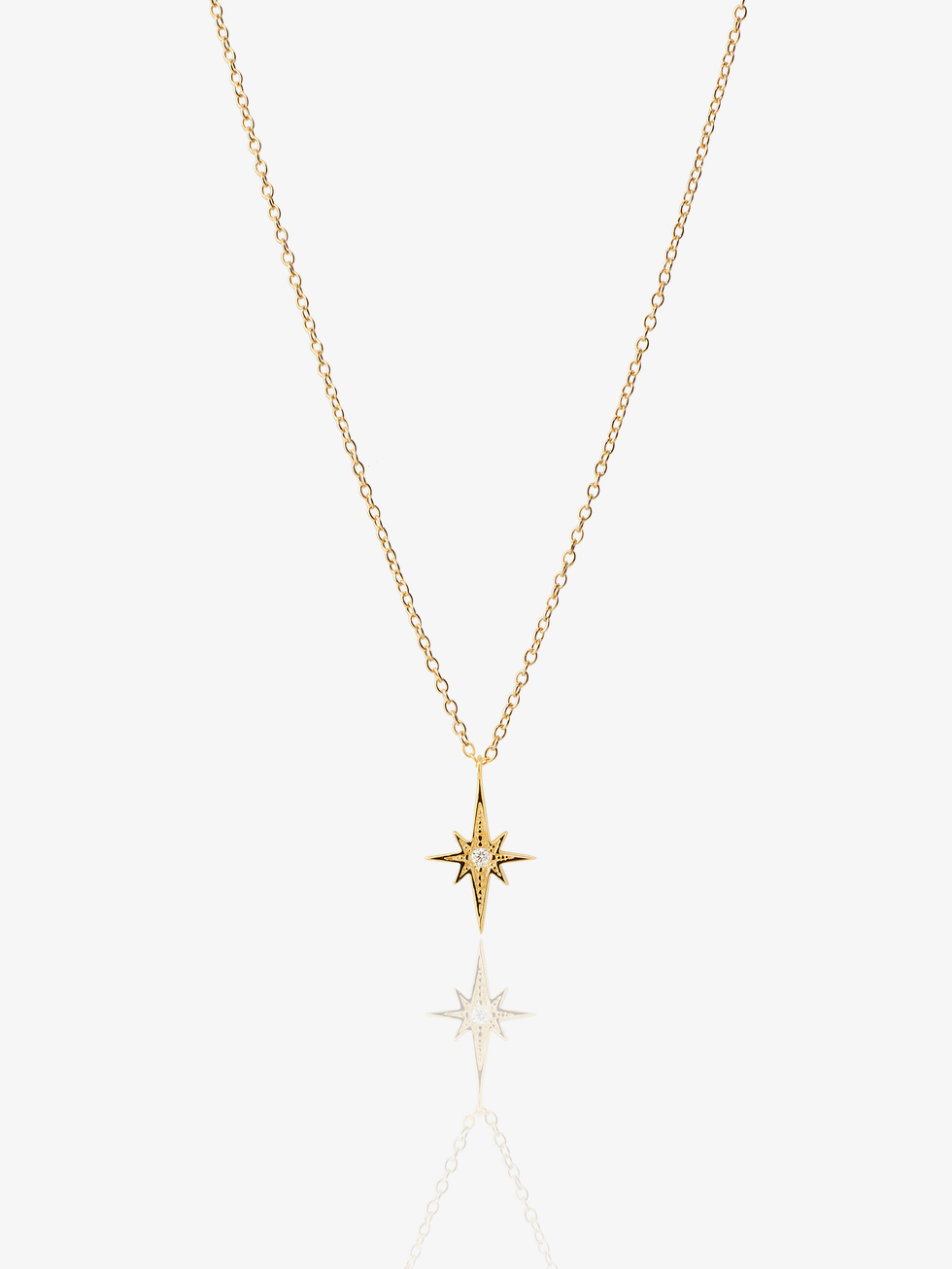 POLE STAR gold necklace