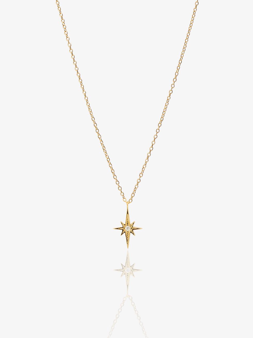 Collar estrella polar   oro2