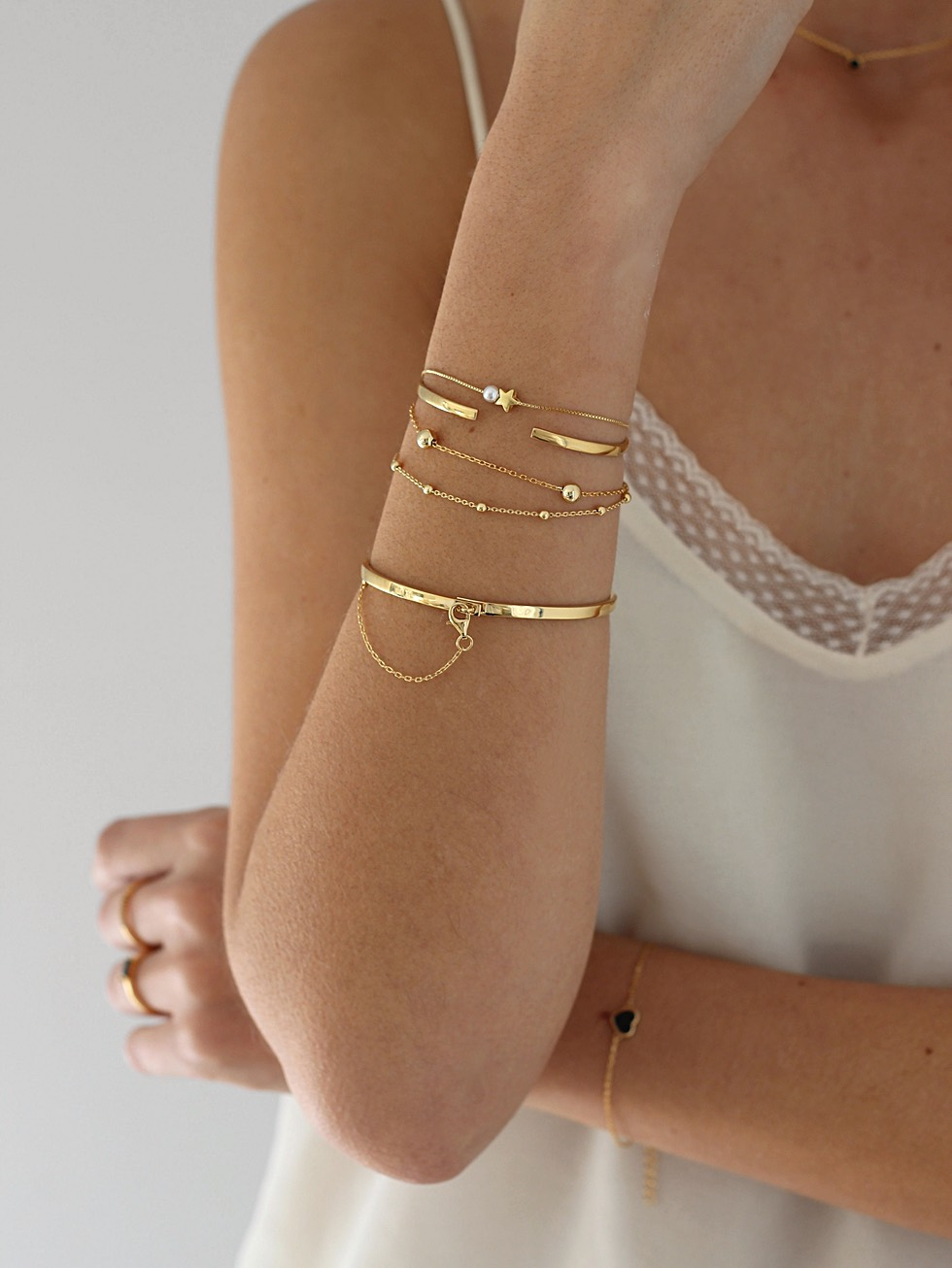 BRIDGE bracelet gold