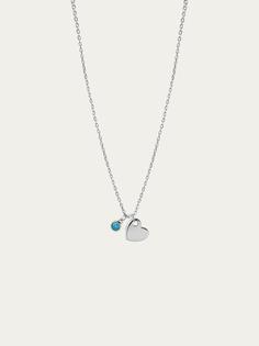 Collaret BLUE HEART plata