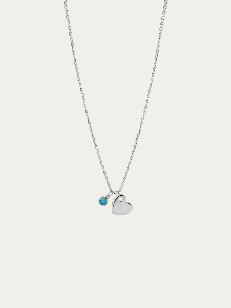 Collaret BLUE HEART plata