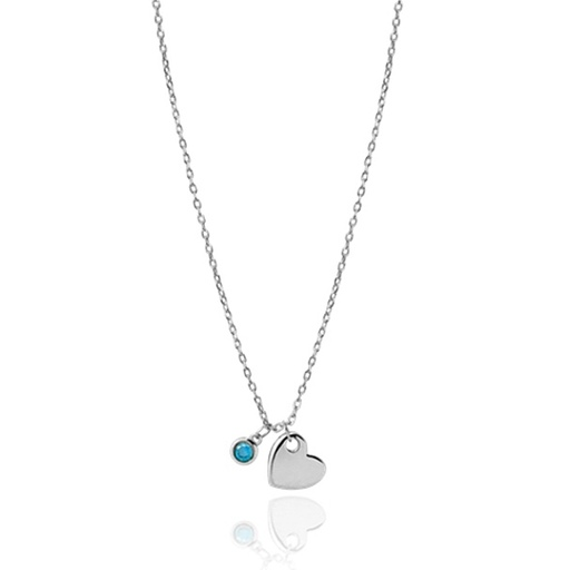 Collier BLUE HEART argent