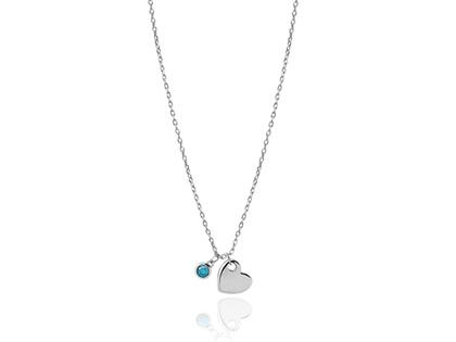 Collar BLUE HEART plata